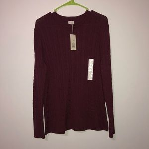 A new day marron long sleeve sweater size XL